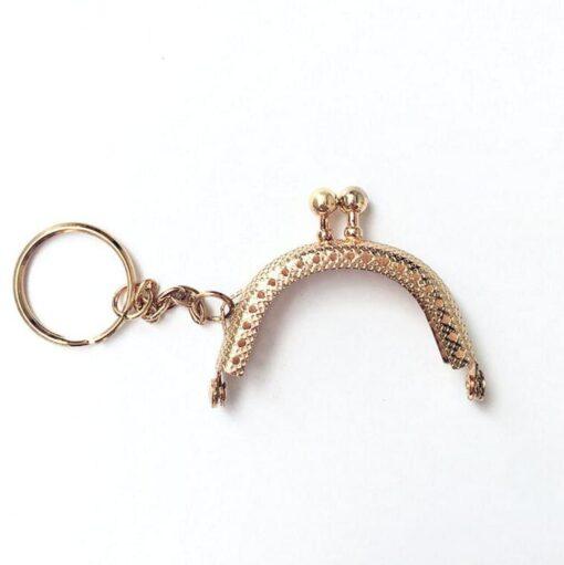 HeArtDeco Clipverschluss/Taschenverschluss mit Kette und Schlüsselring