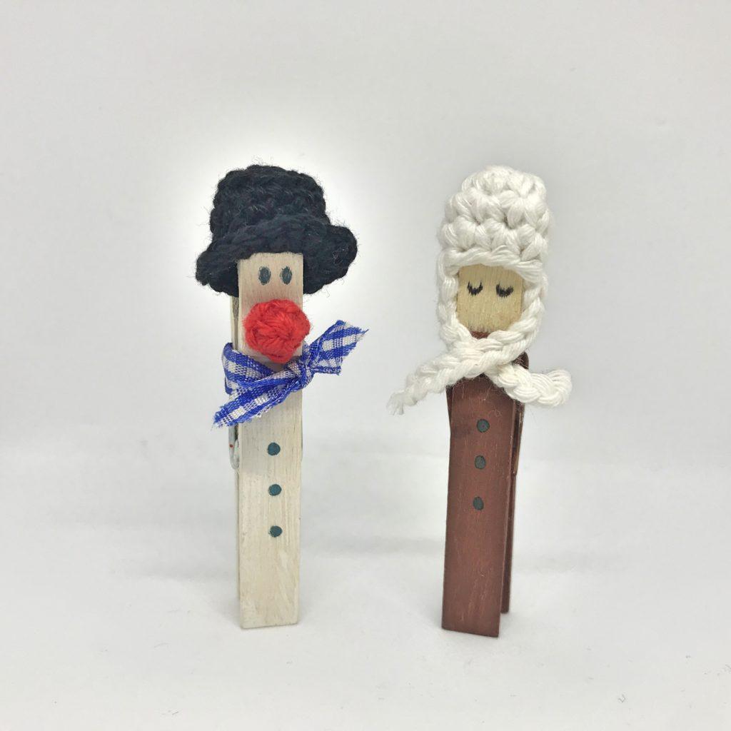 Kostenlose Häkelanleitung weihnachtliche Wäscheklammern