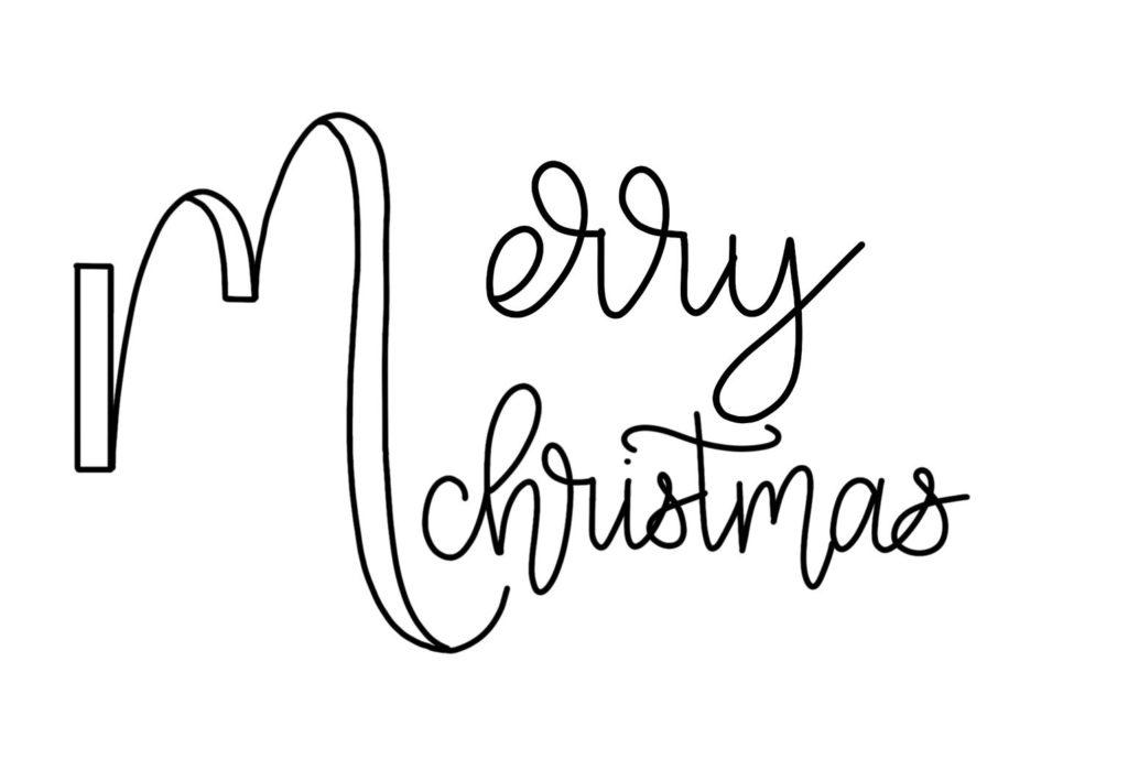 Vorlage Weihnachtskarte mit Lettering