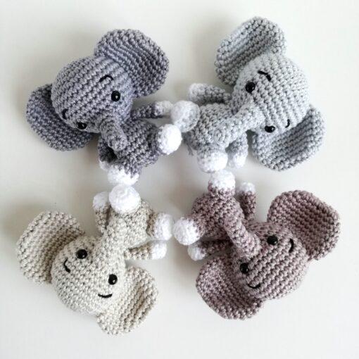 Heartdeco Häkelanleitung Mobile Elefanten