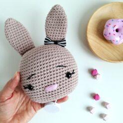 Heartdeco Spieluhr Hase gehäkelt