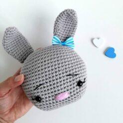 Heartdeco Spieluhr Hase grau