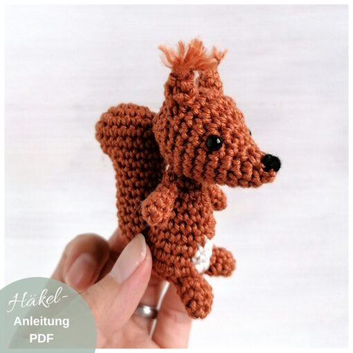 HeArtDeco Häkelanleitung Eichhörnchen Freddy