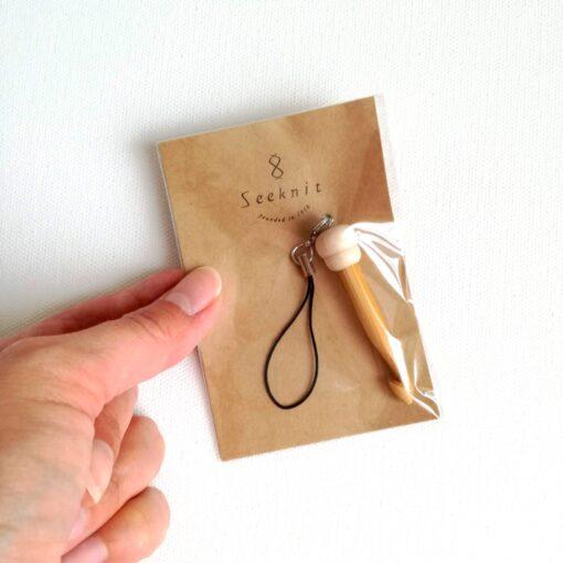 HeArtDeco Schlüsselanhänger Häkelnadel Bamboo
