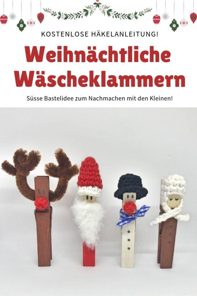 Heartdeco Weihnachtliche Wäscheklammern