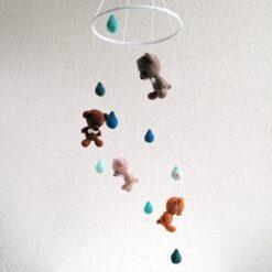 HeArtDeco Mobile mit Bären und Tropfen
