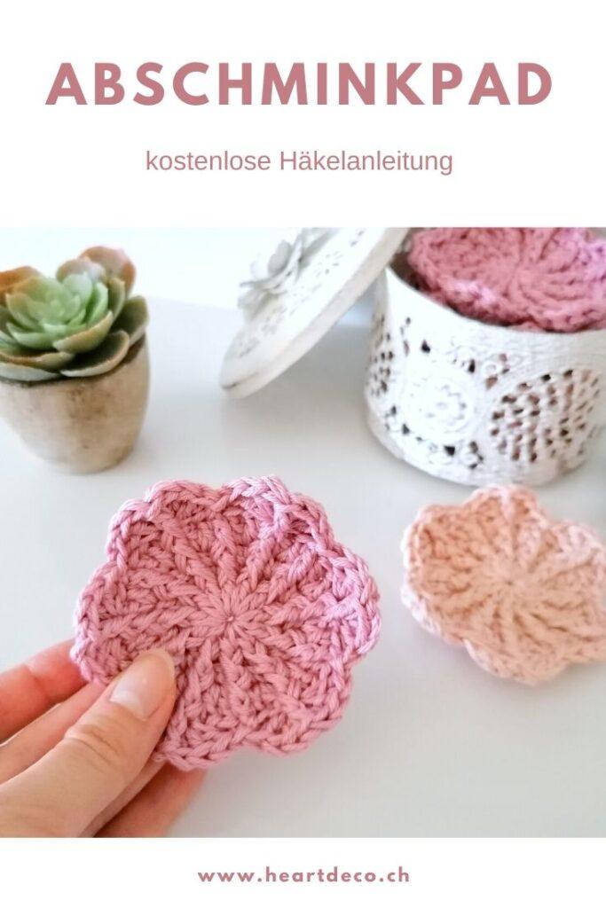 HeArtDeco Abschminkpads Blumenblüte häkeln - kostenlose Anleitung