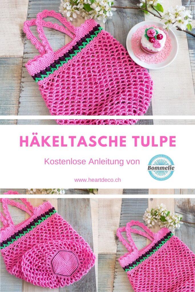Heartdeco Häkeltasche Tulpe kostenlose Anleitung