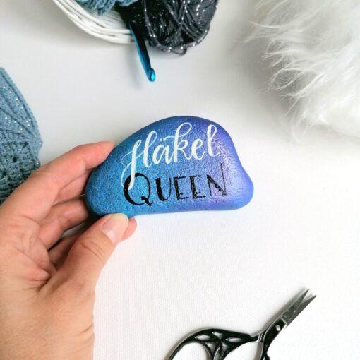 Heartdeco Dekosteine Häkel Queen