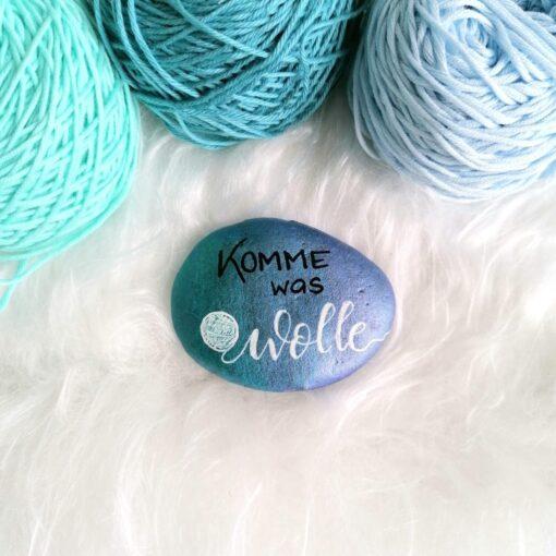 Heartdeco Dekosteine Komme was Wolle