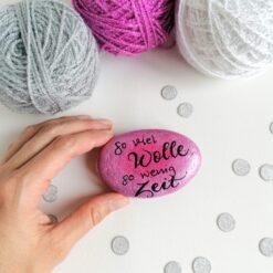 Heartdeco Dekosteine So viel Wolle so wenig Zeit