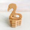 Heartdeco Beissring Holz Flamingo