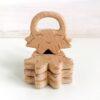 Heartdeco Beissring Holz Oktopus