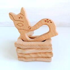 Heartdeco Beissring Holz Reh