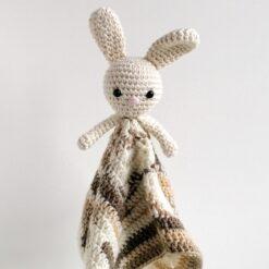 Heartdeco Schnuffeltuch Hase beige gehäkelt