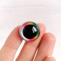 Heartdeco Sicherheitsaugen Glitzer Rainbow