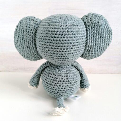Heartdeco Elefant Spieluhr gehäkelt