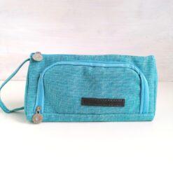 Heartdeco Etui mit Seitenfach blau