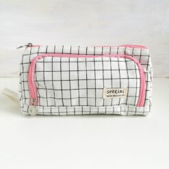 Heartdeco Etui mit Seitenfach rosa-karo