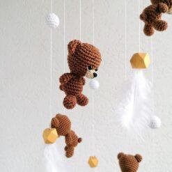 Heartdeco Mobile Bären gehäkelt