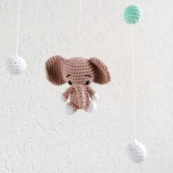 Heartdeco Mobile Elefanten gehäkelt