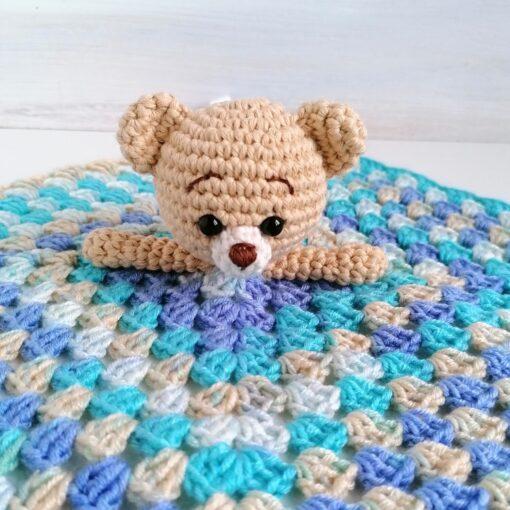 Heartdeco Schnuffeltuch Bär beige gehäkelt