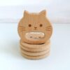 Heartdeco Beissring Holz Katze
