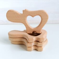 Heartdeco Beissring Holz Nilpferd