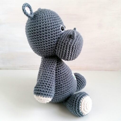 Heartdeco Spieluhr Nilpferd gehäkelt