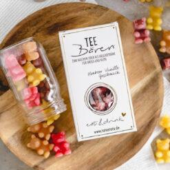 Heartdeco Tee-Bären Himbeer Vanille gross
