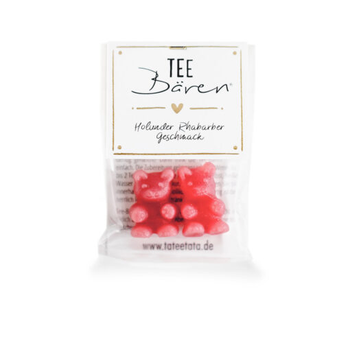 Heartdeco Tee-Bären Holunder Rhabarber mini