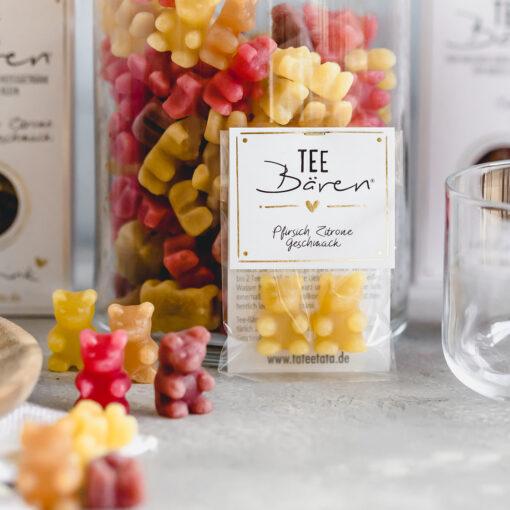 Heartdeco Tee-Bären Pfirsich Zitrone mini