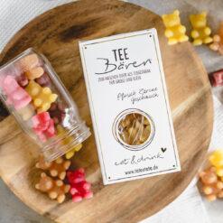 Heartdeco Tee-Bären Pfirsich Zitrone