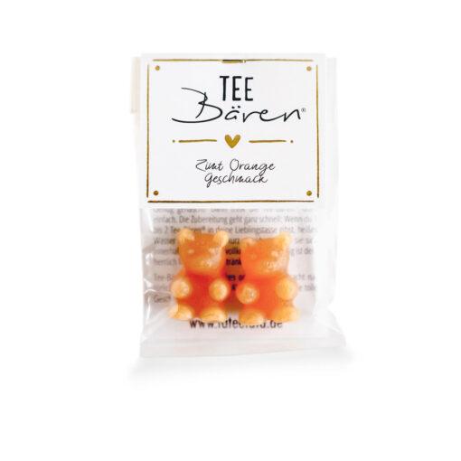 Heartdeco Tee-Bären Zimt Orange mini