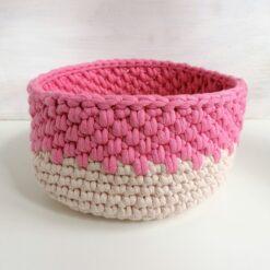 Heartdeco Utensilo rosa-beige