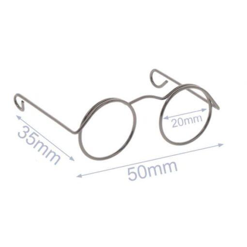 Heartdeco Brille für Stofftiere altnickel