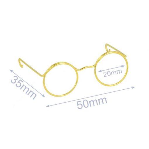 Heartdeco Brille für Stofftiere gold