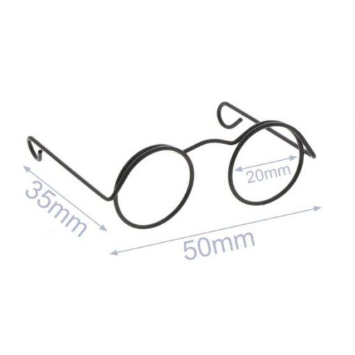 Heartdeco Brille für Stofftiere schwarz