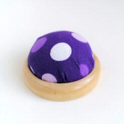 Heartdeco Nadelkissen Polka dots violett
