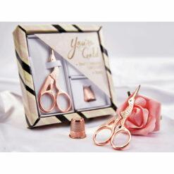 Heartdeco Stickschere Storch Geschenkset rosé-gold