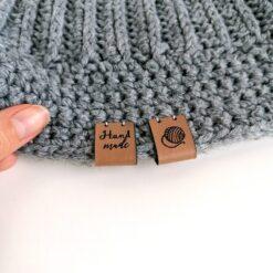 Heartdeco Label Kunstleder Handmade Wollknäuel