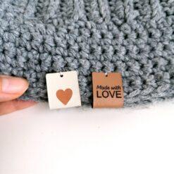Heartdeco Label Kunstleder Made with love